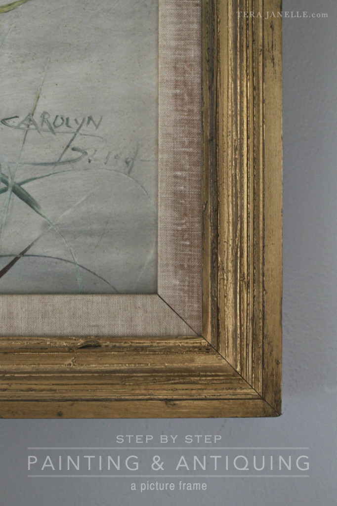 Painting and Antiquing a Picture Frame - TeraJanelle.com DIY & Interior Design Lynchburg Virginia