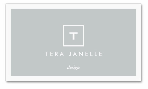 Tera Janelle Design Business Card Gray