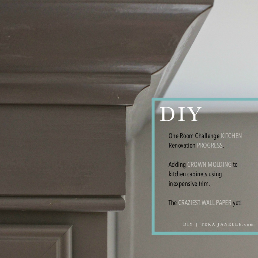 How To Install Kitchen Cabinet Crown Molding Using Inexpensive Trim Boards