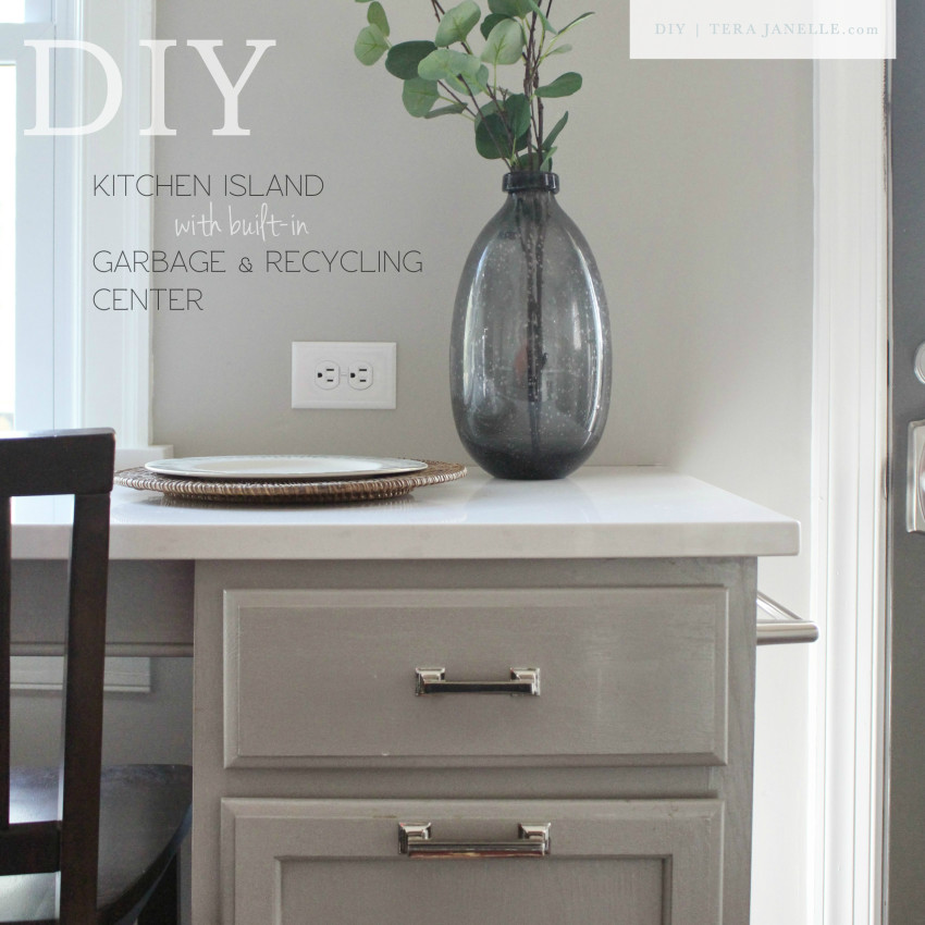 How To Build A Furniture Style Kitchen Island With Pull Out Garbage And Recycling  Center Bins