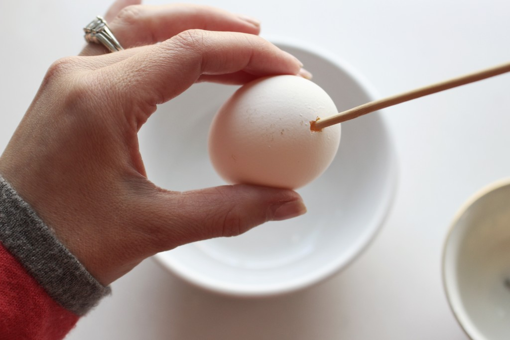 How to blow out an egg for decorating - TeraJanelle.com DIY & Interior Design Lynchburg VA