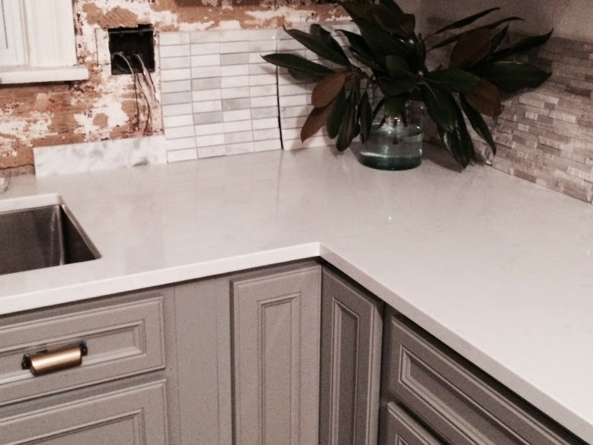 Kitchen Renovation - Affordable Marble Like Quartz Counters