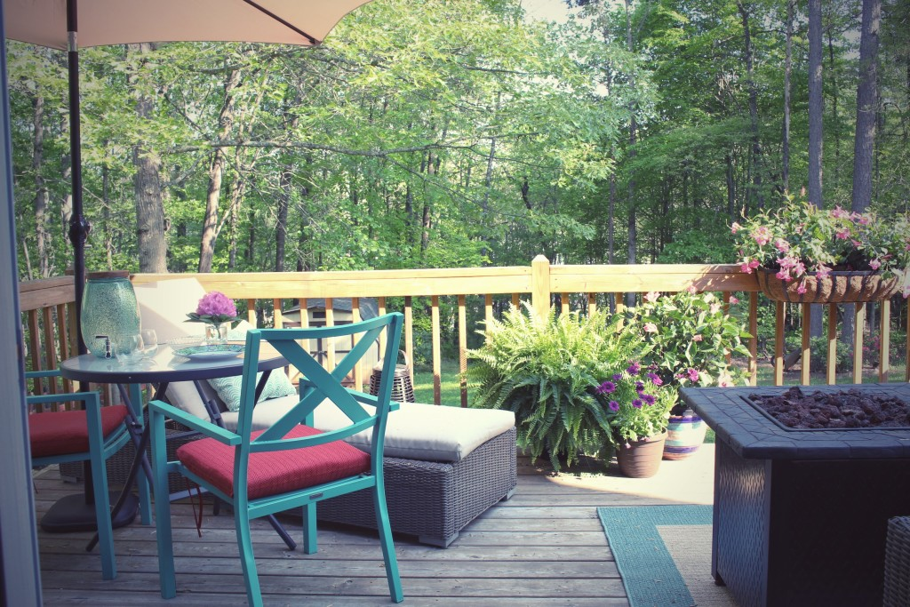 An Outdoor Living Reveal – And a Cute Dog