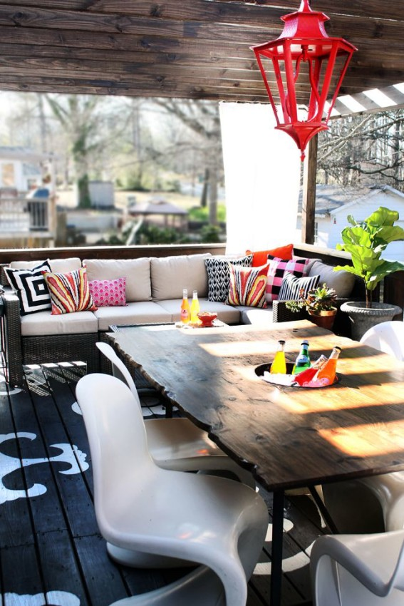 Colorful Indoor Outdoor Living Spaces - Patios and Decks