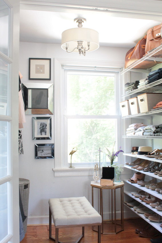 An Old House.  A Tiny Closet. A Master Closet Renovation. – THE REVEAL!