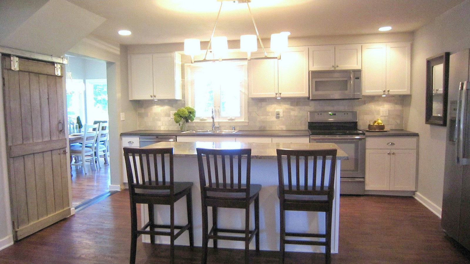Charming BEFORE U0026 AFTER: Affordable Farmhouse Kitchen Renovation   Gray And White    Granite And Laminate