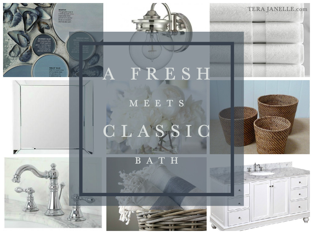 Fresh Meets Classic Bath - Design Inspiration - Cottage Bath