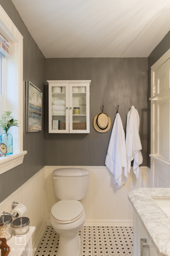 ... Cape Cod Gray And Marble Bathroom Reveal   Tera Janelle Design
