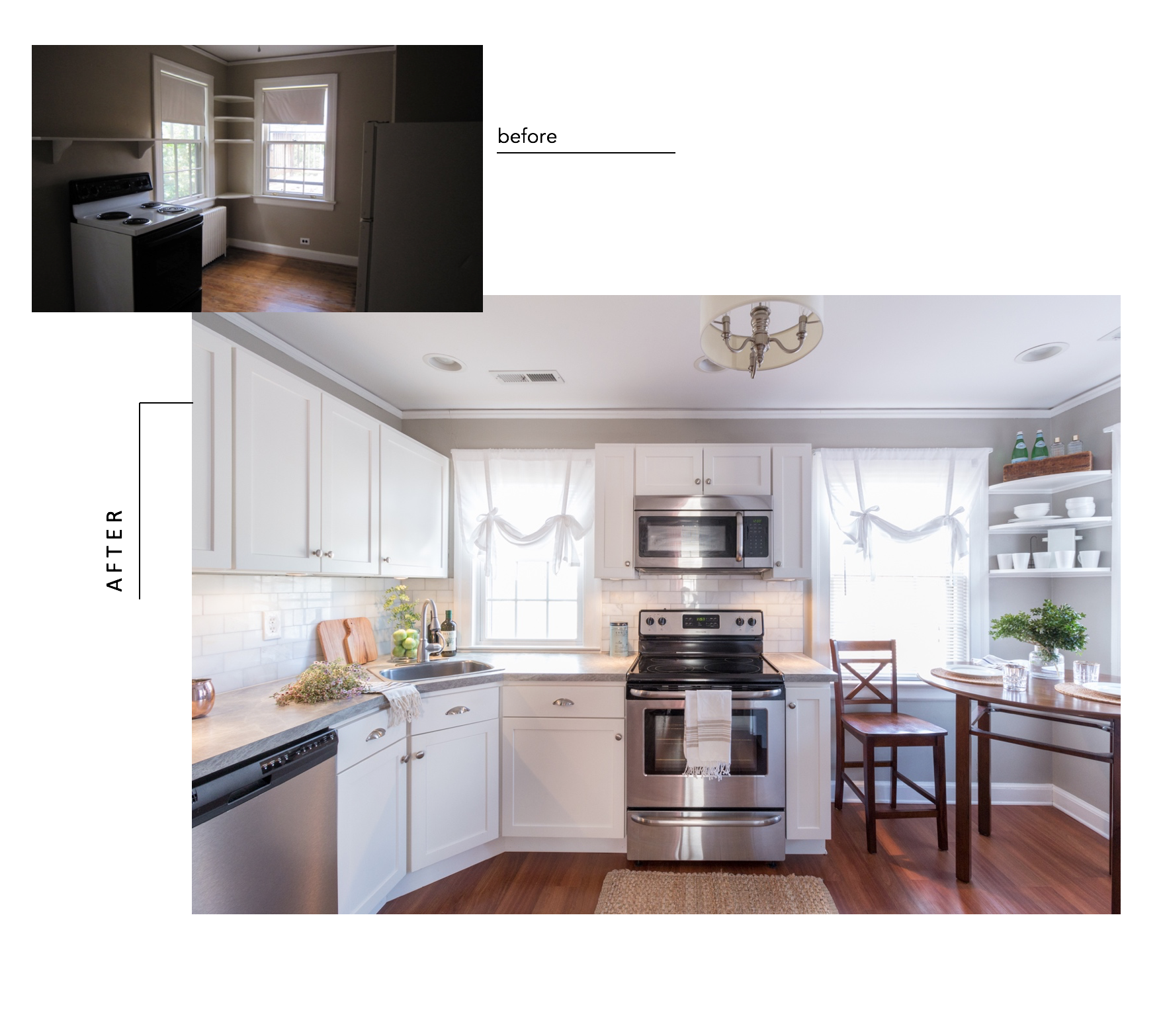 Formica Affordable Kitchen Renovation - Interior Design Lynchburg Virginia