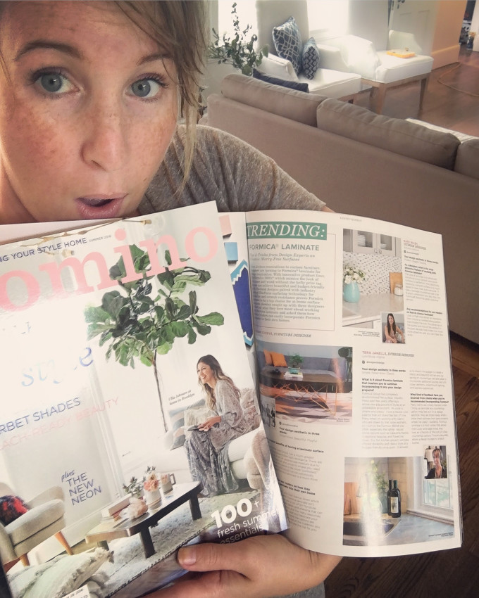 When your kitchen renovation makes Domino magazine!